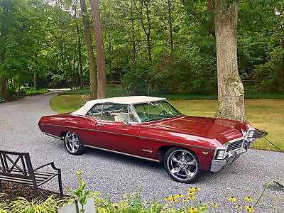 Chevrolet : Impala Real SS Convertible 1967 chevy impala ss convertible 327 300 hp real ss power steering runs great