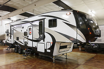 New 2016 3650THS Double Slide 5th Fifth Wheel Toy Hauler Slide Out 12 ft Garage