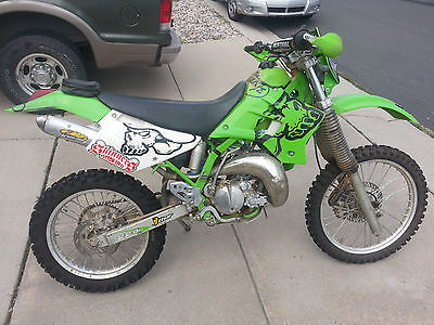 Kawasaki : KDX 2001 kawasaki kdx 220 dirt bike gnarly pipe new tires
