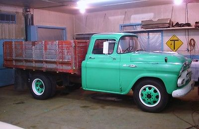 Chevrolet : Other Pickups 1 Ton Dually 1959 gmc 9380 1 ton dually truck with 58 chevrolet 261