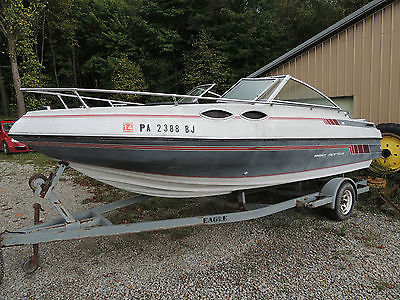 1988 Sea Sprite 19' Cuddy Cab, Speed Boat with trailer