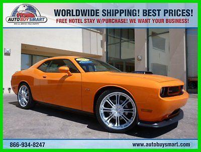 Dodge : Challenger R/T ** CLEAN CARFAX ** SHAKER ** ORANGE ** RT ** 2014 r t used 5.7 l v 8 manual rwd coupe premium shaker pckg