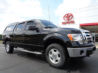 Ford : F-150 Supercrew XLT 4x4 5.0L V8 Cap Tuxedo Black 4WD 2012 f 150 supercrew xlt 4 x 4 5.0 l v 8 are fiberglass cap bed rug chrome steps 4 wd
