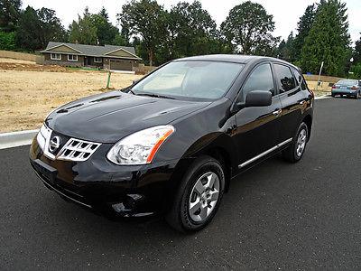 Nissan : Rogue AWD 4dr S AWD 4dr S Low Miles SUV CVT Gasoline 2.5L I4 DOHC 16V Super Black