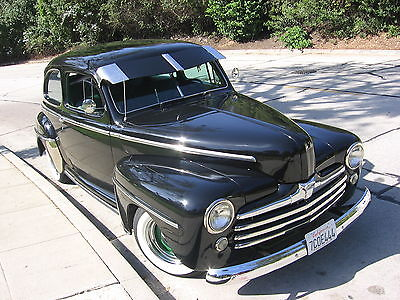 Ford : Other Black 1948 Ford 2 DR Sedan BEAUTIFUL 48 ford 2 dr sdn rust free arz car mustang frt end reg ins in ca