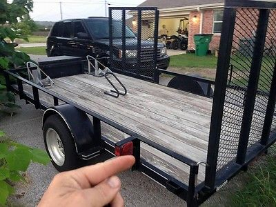 Trailer ideal for hauling motorcycles, lawn tractors, ATV's, and landscape equip