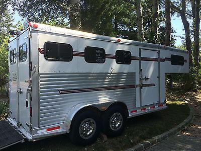 3 horse slant load aluminum gooseneck horse trailer