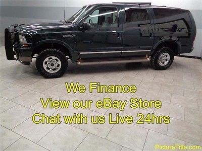 Ford : Excursion Limited 4WD Diesel 03 excursion limited 4 x 4 powerstroke diesel leather heat seats tv dvd we finance