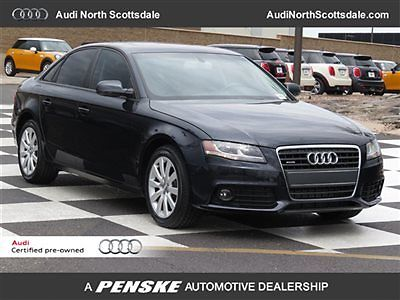 Audi : A4 4dr Sedan Automatic quattro 2.0T Premium 24 k miles 2012 audi a 4 black leather ipod bluetooth homelink sirius xm sunroof