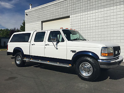 Ford : F-250 XLT LOW MILES - CLEAN 1996 FORD F250 CREW CAB SHORTBED 7.3 POWERSTROKE TURBO DIESEL