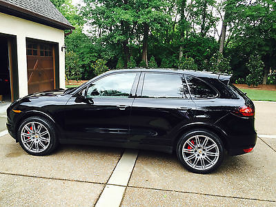 Porsche : Cayenne Cayenne Turbo 2012 porsche cayenne turbo black platinum gray leather loaded