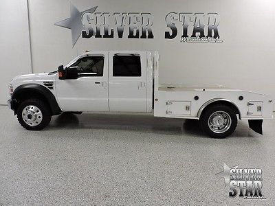 Ford : F-450 Lariat 4WD Powerstrke 2008 f 450 4 wd lariat crewcab dually cm flatbed nice 1 owner allrecords newmotor