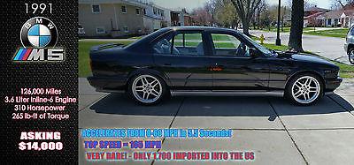 BMW : M5 5 Series - M5 RARE 1991 BMW M5 - EXCELLENT CONDITION, INLINE 6-CYLINDER, 5 SPEED MANUAL