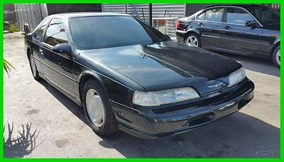 Ford : Thunderbird Supercoupe 1989 ford thunderbird supercoupe black on gray low miles 5 speed clean carfax