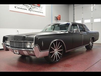 Lincoln : Continental sedan Full air ride (bags) auto Flat black low rider custom STRAIGHT no rust