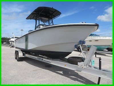 2003 Edge Water 24 Center Console w/ T-Top & Twin 2006 Mercury 200 HP & Trailer