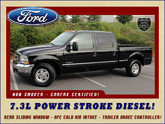 Ford : F-250 Lariat SuperCrew 2WD - 7.3L Turbo Diesel REAR SLIDING WINDOW-AFE COLD AIR INTAKE-TRAILER BRAKE CONTROLLER-NON-SMOKER!