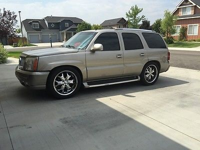 Cadillac : Escalade Base Sport Utility 4-Door 2002 cadillac escalade 6.0 supercharged 500 hp 22 rim lowered luxury awd 6.0 l
