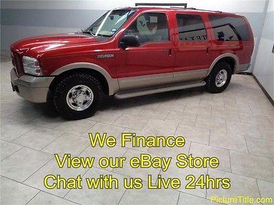 Ford : Excursion Eddie Bauer 2WD Diesel 05 excursion eddie bauer 2 wd diesel leather heated seats we finance texas