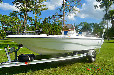 02' Polar Bayboat Aluminum Trailer 115hp outboard