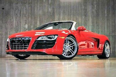 Audi : R8 Spyder 2011 audi r 8 5.2 l v 10 spyder 180 k msrp r tronic carbon fiber only 4 k miles