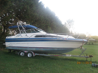 1987 sea ray 268 weekender 26 foot , duel 4 cyl mercusiers,