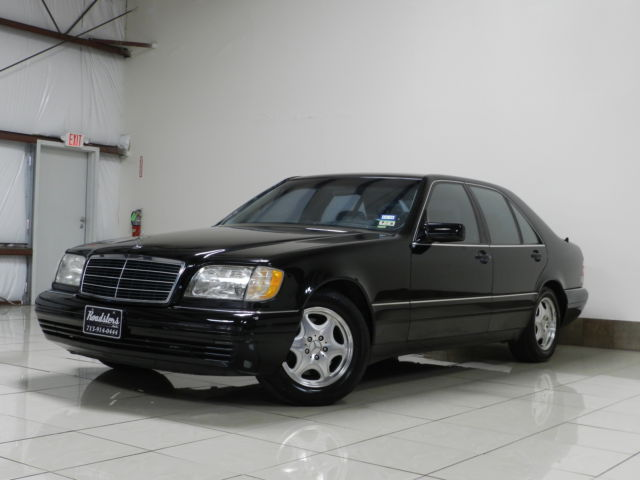 Mercedes-Benz : S-Class 4dr Sdn 3.2L HARD TO FIND MERCEDES S320 ONE OWNER LOW MILES BLK ON BLK SUNROOF HEATED SEAT