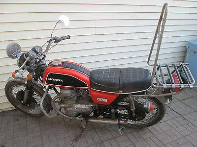 Honda : CB VINTAGE 1974 HONDA CB200 TWIN CYL. CLEAR TITLE NICE ORANGE!!