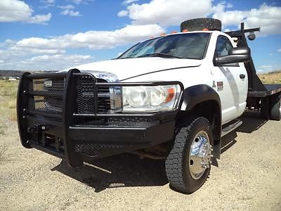 Dodge : Ram 5500 Flat Bed Dually 2009 dodge ram 5500 4 x 4 cummins dually flat bed truck make offer