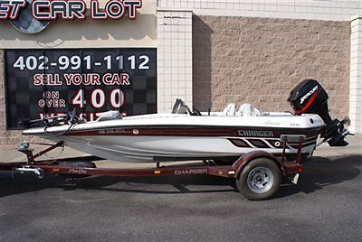 2003 Charger Bass Fishing Boat 17ft 90hp Mercury Fiber Glass w/ Trailer Clean