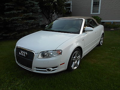 Audi : A4 Cabriolet Convertible 2-Door 2007 audi a 4 cabriolet convertible white