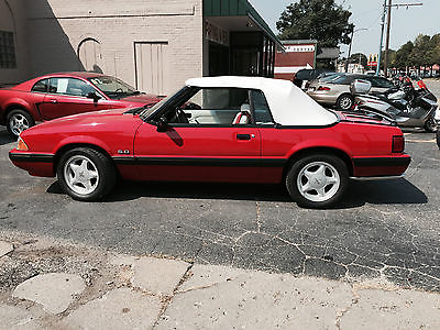 Ford : Mustang LX 1991 ford mustang lx convertible 2 door 5.0 l