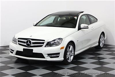 Mercedes-Benz : C-Class CERTIFIED C250 SPORT COUPE NAVIGATION REAL FULL SIZE NAVIGATION coupe BACK-UP CAMERA 2012 white/beige PANORAMA ROOF