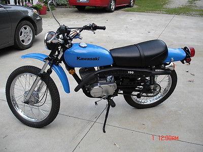 Kawasaki : Other 1981 kawasaki ke 100 enduro 317 original miles