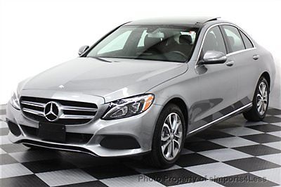 Mercedes-Benz : C-Class CERTIFIED C300 4Matic SPORT PACKAGE AWD SEDAN NAVI AWD CERTIFIED 2015 11k miles NAVI Burmester Audio KEYLESS GO panorama LED LIGHTS