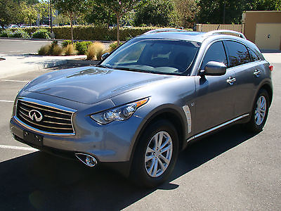 Infiniti : QX70 Base Sport Utility 4-Door 2014 infiniti qx 70 only 9 k mi navigation backup cam heated seats roof tint