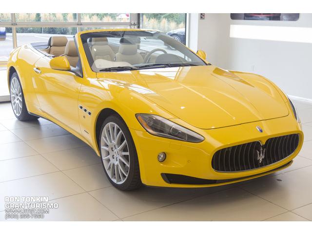 Maserati : Gran Turismo 2dr Conv Gra Giallo Granturismo Special Paint, Ron Tonkin's Personal Vehicle