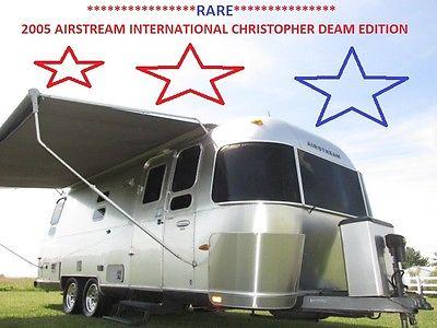 2005 AIRSTREAM INTERNATIONAL CCD CHRISTOPHER DEAM EDITION 1/2 TON TOW RV RARE