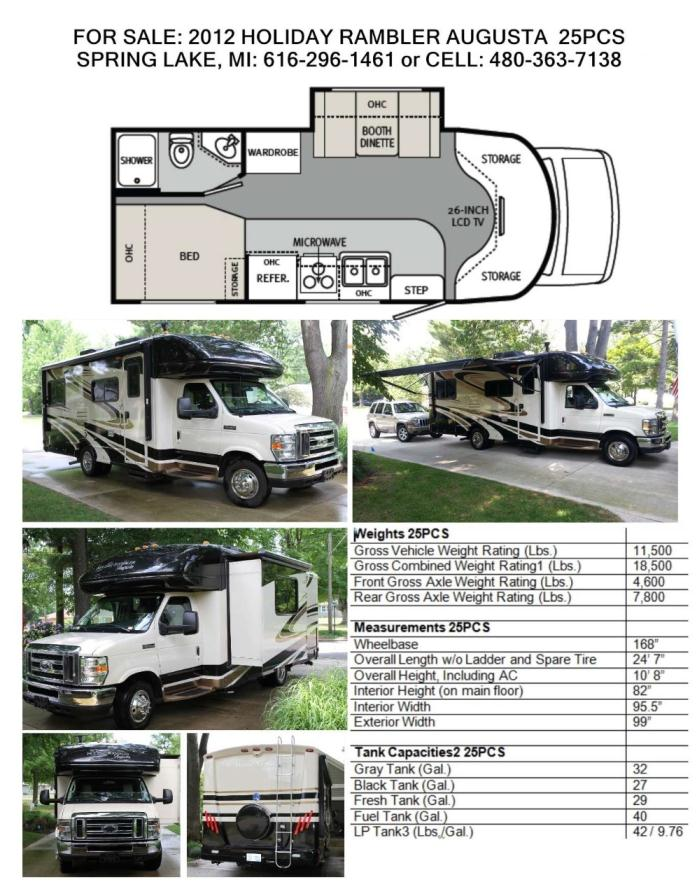 2012 Holiday Rambler Augusta 25PCS