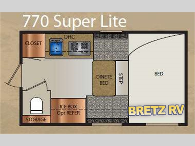 2012 Travel Lite Truck Campers 770 Super Lite Series
