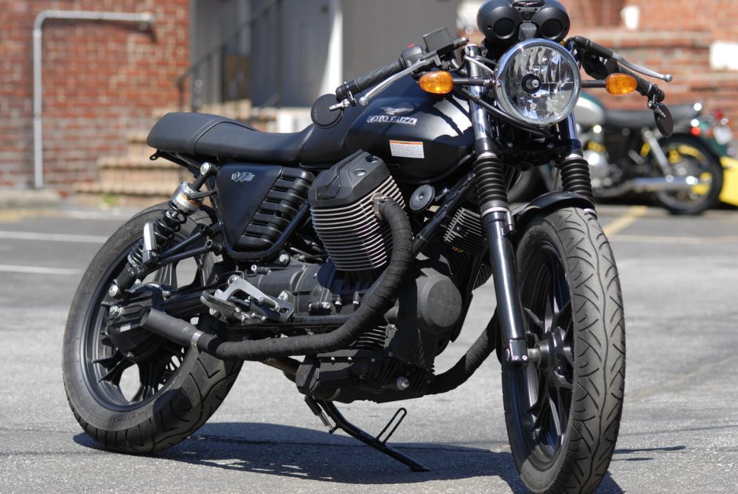 moto guzzi v7 stone 750 custom cafe racer motorcycles for sale. Black Bedroom Furniture Sets. Home Design Ideas