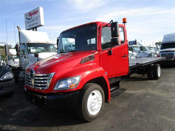 2009 Hino Hino 268  Flatbed Truck
