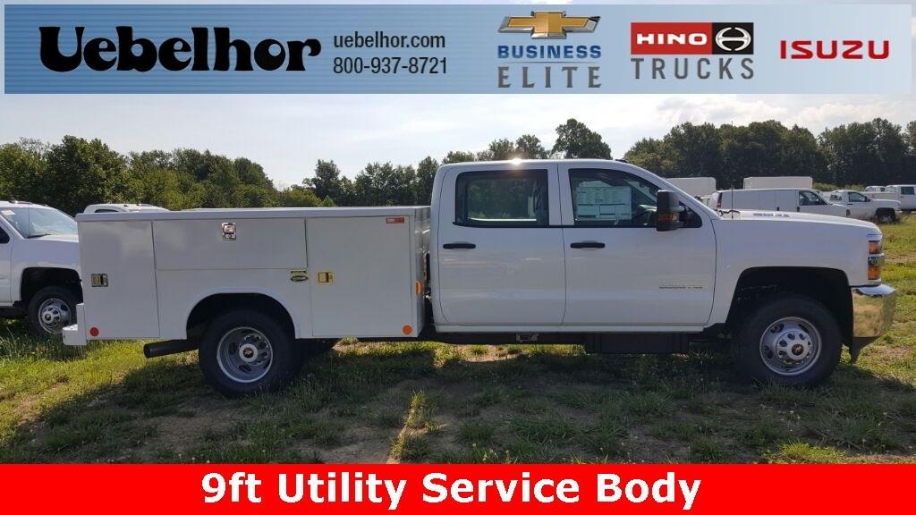 2016 Chevrolet Silverado 3500hd 9ft Utility Service Bod Crew Cab
