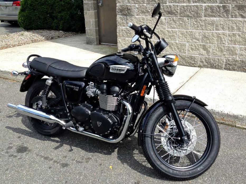 triumph bonneville t120 black motorcycles for sale. Black Bedroom Furniture Sets. Home Design Ideas