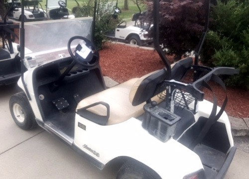 2006 Ezgo GAS EZ GO TXT Gas Golf Cart with SS Wheel Covers