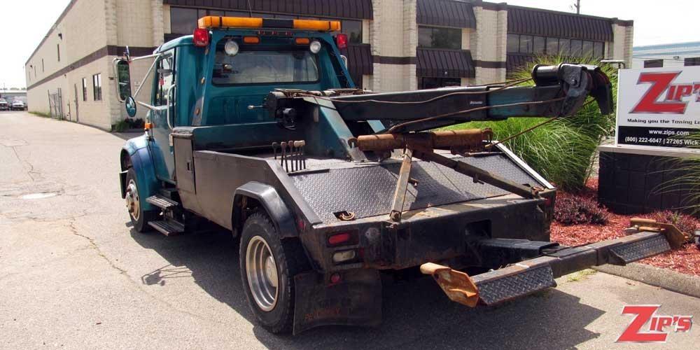 1996 International 4700 Flatbed Truck