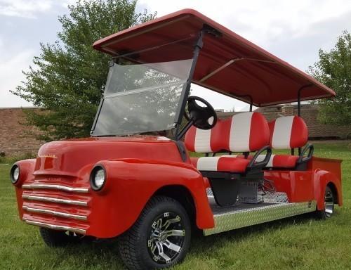 2011 Club Car '47 Old Truck Golf Cart 4 Seater 48v Electric Custom St