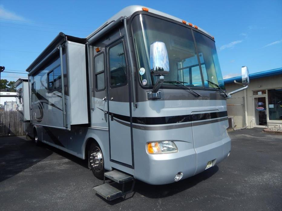 2005 Monaco Rv Knight 38PDQ Rear Queen Quad Slide Out