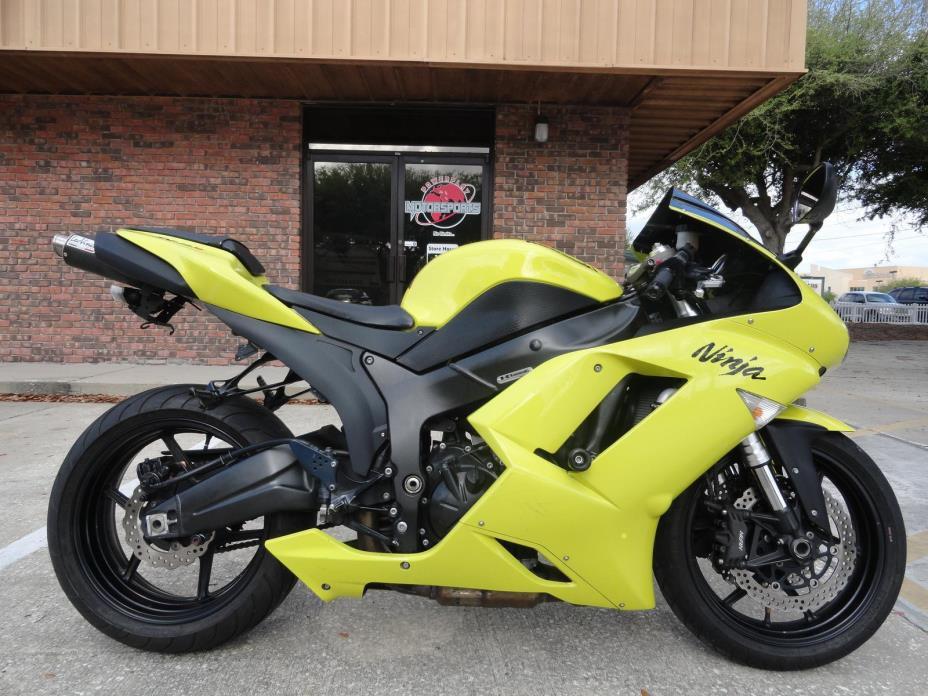 2008 Yellow Kawasaki Zx6r Motorcycles for sale