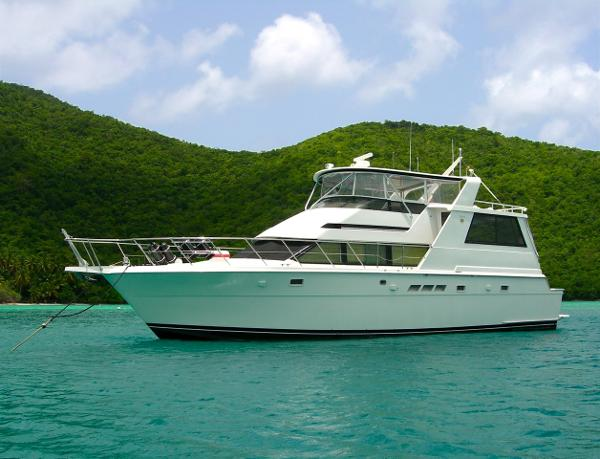 Hatteras motor yacht fly bridge boats for sale in florida for Motor yachts for sale in florida